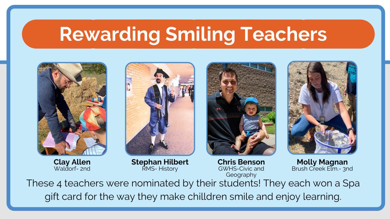 gws teachers smiling teacher award